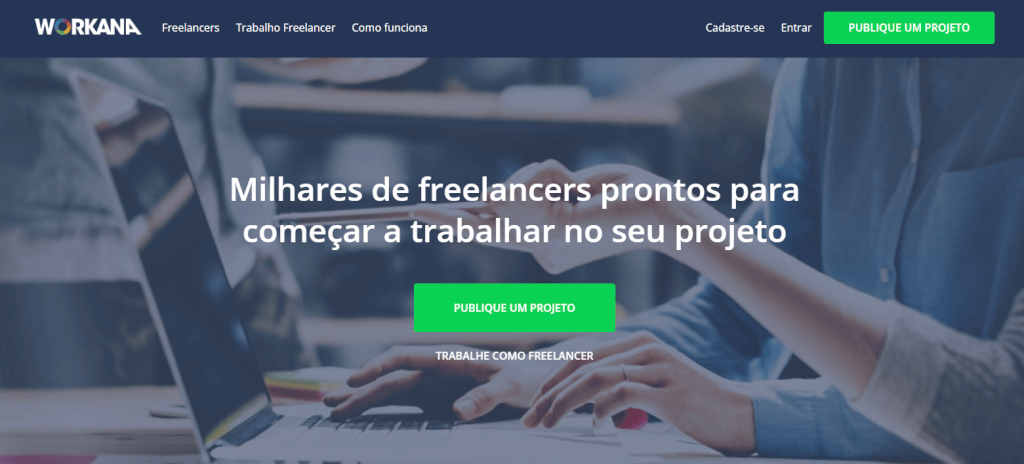 Workana encontre um freelancer para os seus projectos