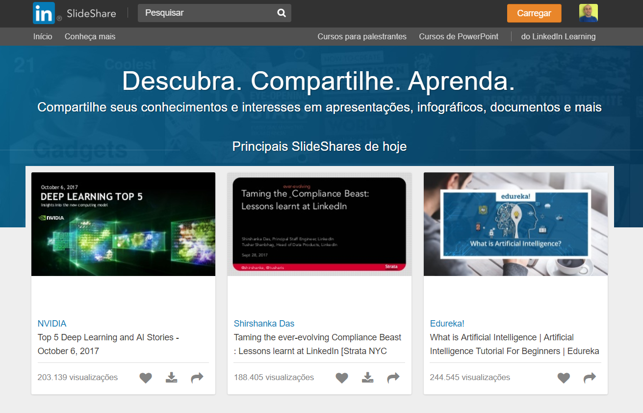 SlideShare ferramenta marketing digital