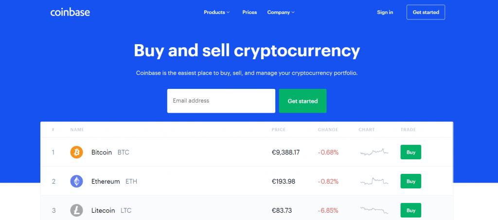 CoinBase carteira virtual para criptomoedas